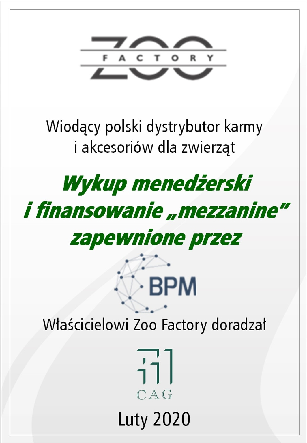 2020 ZOO FACTORY PL